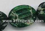CDT78 15.5 inches 26*33mm star fruit shaped dyed aqua terra jasper beads