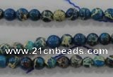 CDT811 15.5 inches 6mm round dyed aqua terra jasper beads wholesale