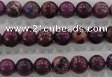 CDT832 15.5 inches 8mm round dyed aqua terra jasper beads wholesale