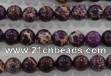 CDT842 15.5 inches 8mm round dyed aqua terra jasper beads wholesale