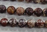 CDT843 15.5 inches 10mm round dyed aqua terra jasper beads wholesale