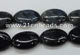 CDU08 15.5 inches 13*18mm oval natural blue dumortierite beads