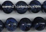 CDU108 15.5 inches 20mm round blue dumortierite beads wholesale