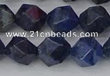 CDU333 15.5 inches 12mm faceted nuggets blue dumortierite beads