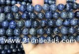 CDU353 15.5 inches 10mm round blue dumortierite beads wholesale