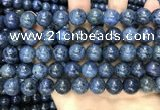CDU354 15.5 inches 12mm round blue dumortierite beads wholesale