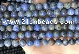 CDU362 15.5 inches 8mm round sunset dumortierite beads wholesale