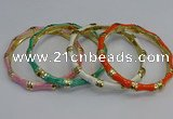 CEB110 6mm width gold plated alloy with enamel bangles wholesale
