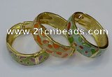 CEB147 19mm width gold plated alloy with enamel bangles wholesale