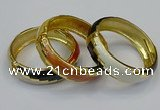CEB151 19mm width gold plated alloy with enamel bangles wholesale