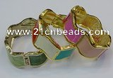CEB152 23mm width gold plated alloy with enamel bangles wholesale