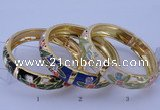CEB40 5pcs 14mm width gold plated alloy with enamel bangles