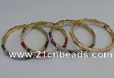 CEB81 6mm width gold plated alloy with enamel bangles wholesale
