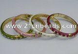 CEB89 8mm width gold plated alloy with enamel bangles wholesale