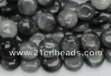 CEE11 15.5 inches 10mm flat round eagle eye jasper beads wholesale