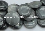 CEE14 15.5 inches 18mm flat round eagle eye jasper beads wholesale