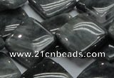 CEE17 15.5 inches 20*20mm diamond eagle eye jasper beads wholesale