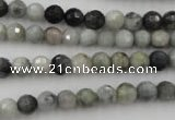 CEE351 15.5 inches 6mm faceted round eagle eye jasper beads
