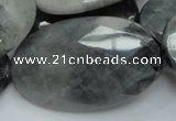 CEE45 15.5 inches 30*50mm faceted oval eagle eye jasper beads