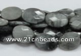 CEE53 15.5 inches 12*16mm faceted oval eagle eye jasper beads