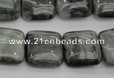 CEE78 15.5 inches 18*18mm square eagle eye jasper beads