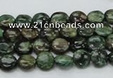 CEM01 15.5 inches 8mm flat round emerald gemstone beads wholesale