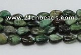 CEM05 15.5 inches 6*8mm flat teardrop emerald gemstone beads