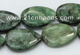 CEM08 15.5 inches 18*25mm flat teardrop emerald gemstone beads