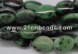 CEP11 15.5 inches 10*14mm oval epidote gemstone beads wholesale