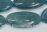 CEQ118 15.5 inches 20*40mm oval blue sponge quartz beads