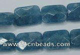 CEQ233 15.5 inches 13*18mm faceted rectangle blue sponge quartz beads