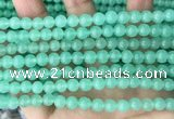 CEQ301 15.5 inches 6mm round green sponge quartz beads