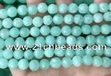 CEQ312 15.5 inches 8mm faceted round green sponge quartz beads