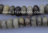 CFA204 15.5 inches 6*14mm rondelle chrysanthemum agate beads