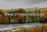 CFC119 15.5 inches 18*18mm square fossil coral beads wholesale