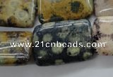 CFC121 15.5 inches 18*25mm rectangle fossil coral beads wholesale