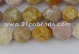 CFC237 15.5 inches 8mm faceted nuggets fossil coral beads