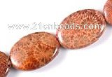 CFC42 18*25mm oval 15 inches fossil coral beads Wholesale