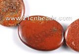 CFC44 16 inches 30*40mm oval  fossil coral beads Wholesale
