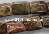 CFC99 15.5 inches 15*20mm rectangle fossil coral beads wholesale