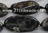 CFG1175 15.5 inches 20*30mm – 25*35mm carved freeform agate beads