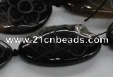 CFG1176 15.5 inches 20*40mm – 25*45mm carved freeform agate beads