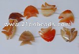 CFG1255 15.5 inches 38*42mm - 42*45mm carved fish agate beads