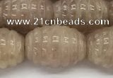 CFG1505 15.5 inches 15*20mm carved rice strawberry quartz beads