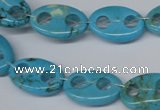 CFG291 15.5 inches 12*18mm carved oval turquoise beads