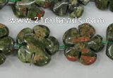 CFG451 15.5 inches 20mm carved flower unakite gemstone beads