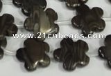 CFG681 15.5 inches 15mm carved flower grain stone beads