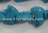 CFG793 12.5 inches 14*18mm carved animal synthetic turquoise beads
