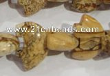 CFG807 12.5 inches 14*18mm carved animal picture jasper beads