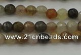 CFJ210 15.5 inches 4mm faceted round fancy jasper beads wholesale